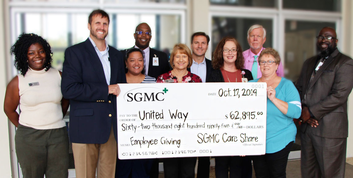 SGMC Care Share Donation to United Way