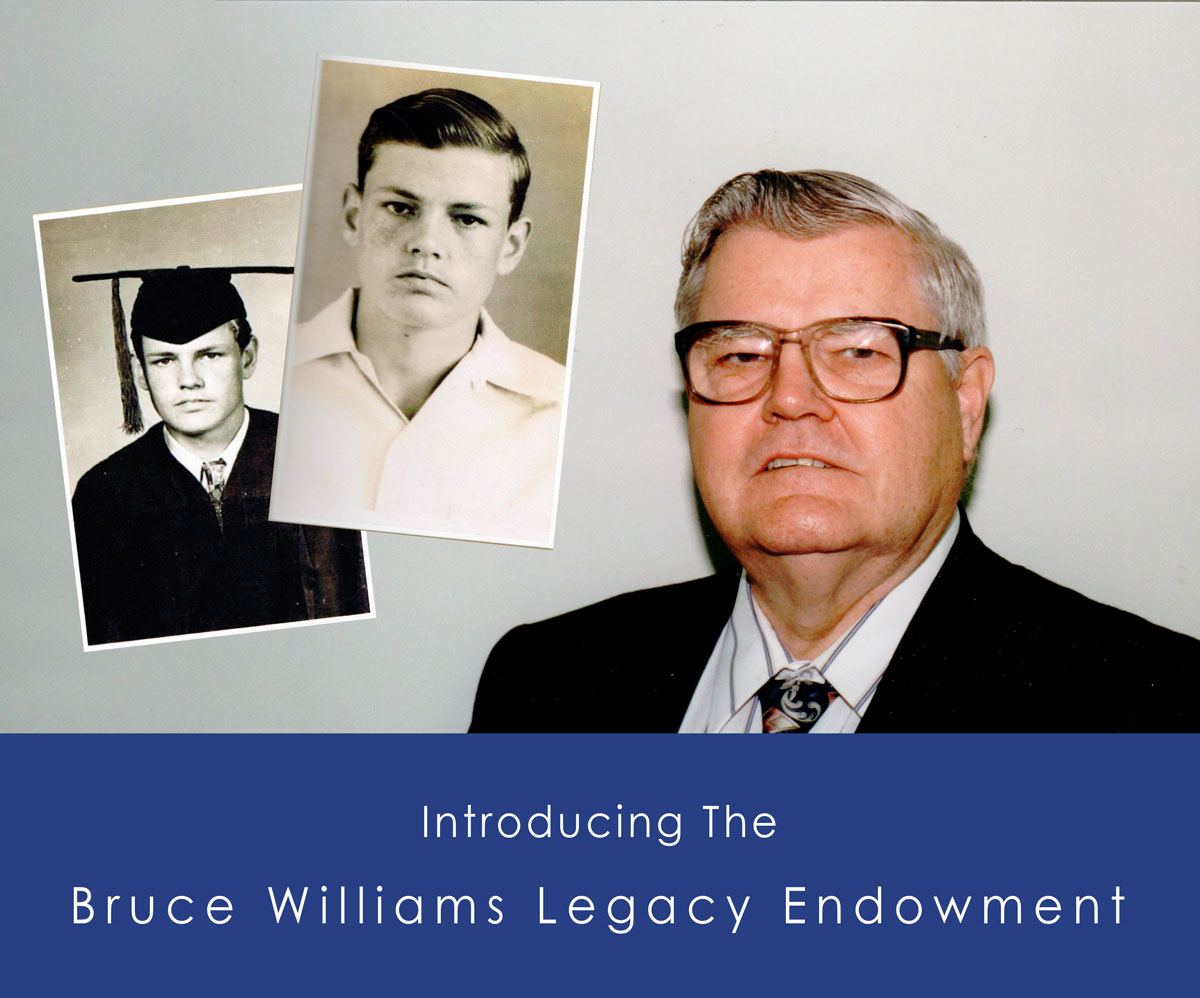 Bruce Williams Legacy Endowment with Images of Bruce Williams