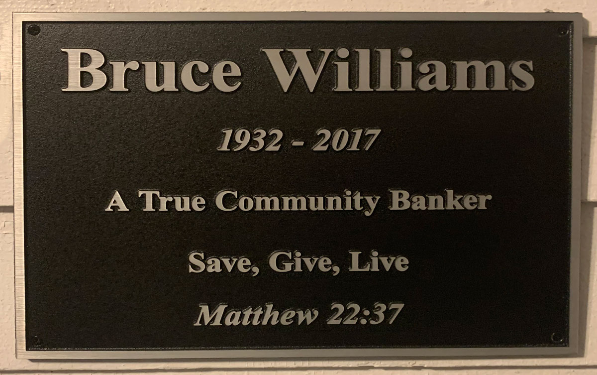 Introducing the newly named Bruce Williams House